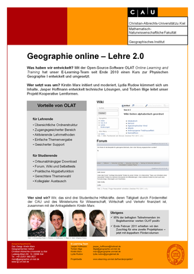 Poster Geographie e-Learning